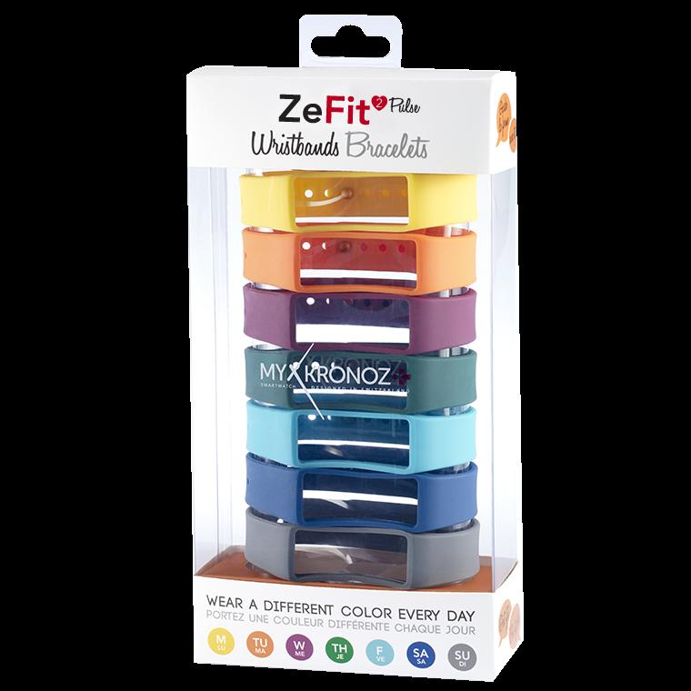 ZeFit2Pulse Bracelets x7 - Portez une couleur différente chaque jour - MyKronoz