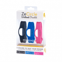 ZeCircle Wristbands x3 - Wear different colors every day - MyKronoz