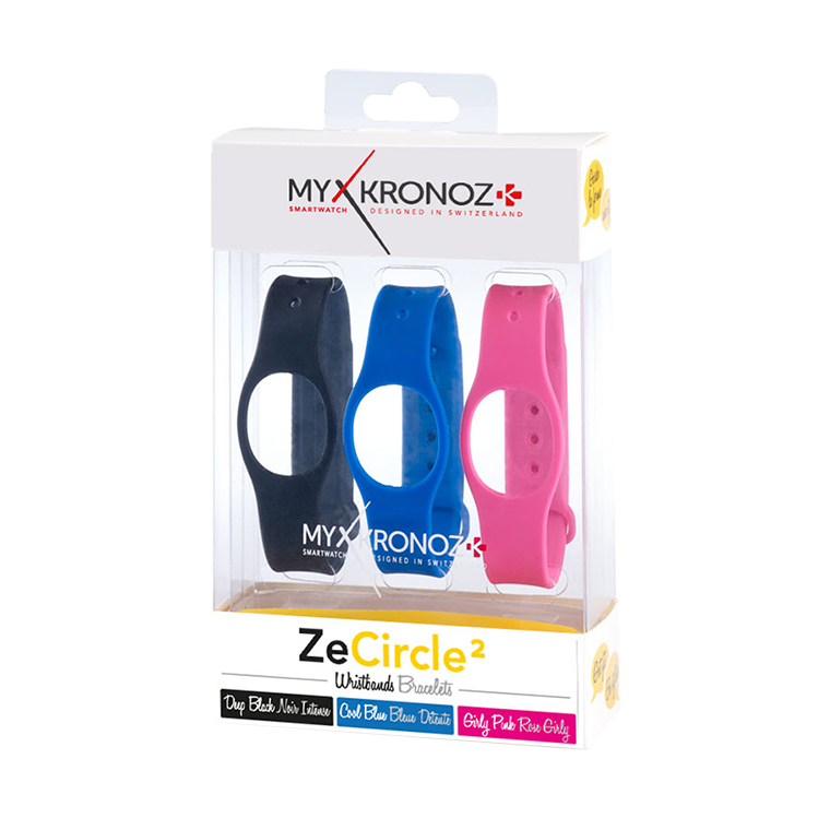 ZeCircle2 Wristbands x3 - Wear different colors every day - MyKronoz