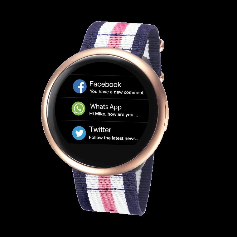 ZeRound2HR Premium - Montre connectée avec écran couleur tactile circulaire et capteur de rythme cardiaque - MyKronoz