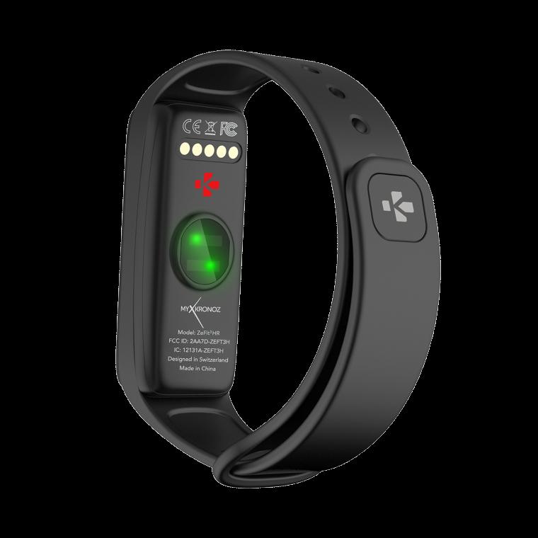ZeFit3HR - Tracciatore di attività con Schermo al tocco a colori e cardiofrequenzimetro - MyKronoz