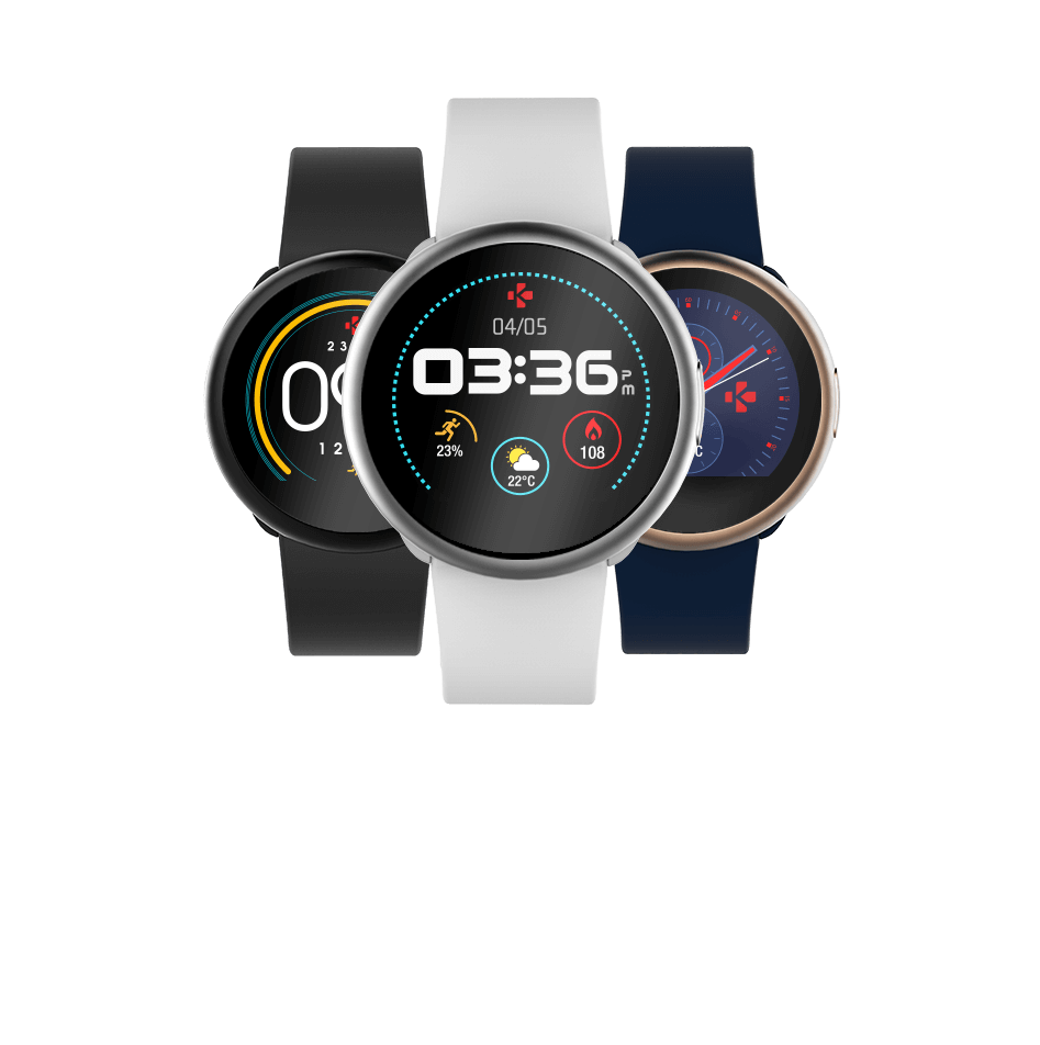 ZeRound 2 Smartwatch with circular color touchscreen ...